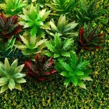 100db Mix színek Modell vonatok Layout Railway Flower Grass 1: 100 HO Scale