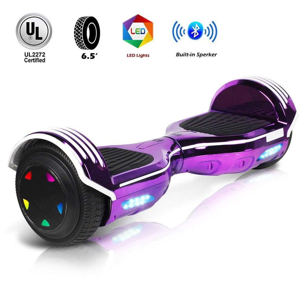 Самобалансирующийся скутер 4.0Ah большая емкость батареи Максимальная нагрузка 100 кг алюминиевый сплав красивый вид светодиодный Большой Пе... - 6