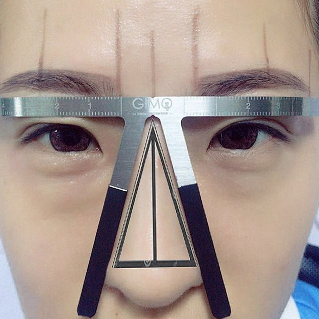 Eyebrows Shaping Thrush Card DIY Hollow Threading Artifact Thrush Aid Card Easy Makeup Eyebrow Template 2