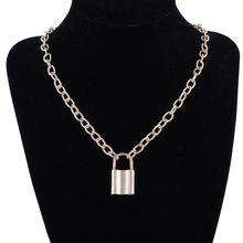 Позолоченный серебряный цветной висячий замок ожерелье с подвеской