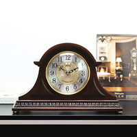 Weilingdun Music Hourly Chiming High Quality Table Clock Europe Antique Wooden Mute Quartz Desktop Clock T20245