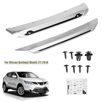2X ABS Car Front Rear Bumper Skid Protector Guard Plate Decoration for Nissan Qashqai Dualis J11 2014 2015 2016 2017
