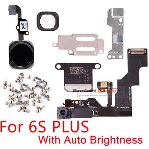 Image 5 - 1set For iphone 6 6s Plus Home Button flex+front camera Sensor Proximity+earpiece+full screws+earpiece metal repair parts