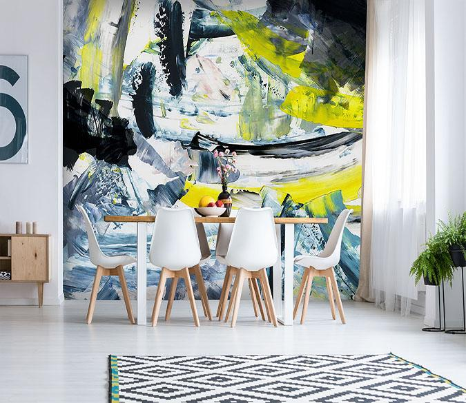 [Self-Adhesive] 3D Graffiti Abstract Painting  7 Wall Paper Mural Wall Print Decal Wall Murals