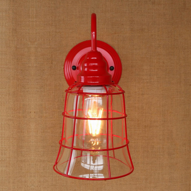 Replica designer fashional style mini red colour glass shade Wall Light lamp Sconce Lamp porch light