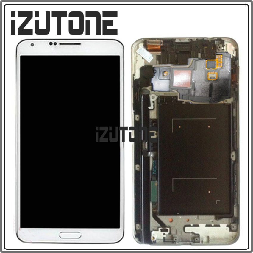 100% warranty Black and white LCD Screen Display with Touch Screen Digitizer Assembly+Frame For Samsung Note 3 Neo N7505 N750N