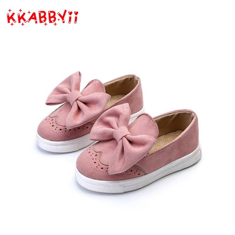 KKABBYII Kids Girls Shoes Spring Autumn Big Bow Fashion Sneaker Children Baby Girl Casual Sport Shoes princess Cute Shoes