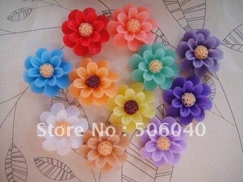 supernova sales  18 mm 11 Colors Flatback Resin Sun Flower Beads for DIY Accessorie Wholesale 100PCS/LOT