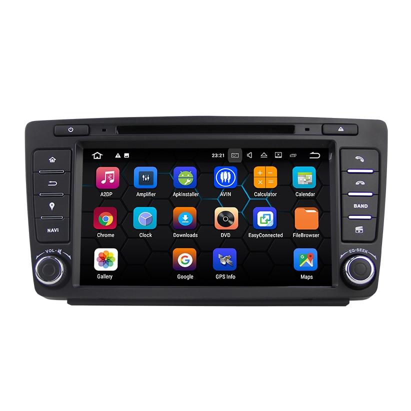 Android 7.1.2 система dvd плеер автомобиля для SKODA OCTAVIA 2009 2012 с gps навигацией автомобильный мультимедийный плеер