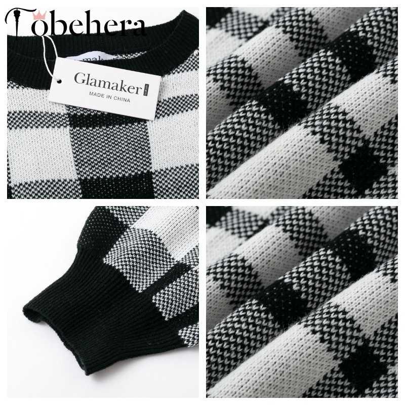 Glamaker, черный вязаный свитер в клетку, платье для женщин, зимний костюм из двух частей, элегантное короткое платье, женская уличная одежда, Осенние вечерние платья