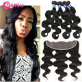 Spring Queen Hair Products With Lace Frontal Closure 13X4 Ear To Ear Lace Frontal With 3 Bundles Cambodian Virgin Hair Body Wave