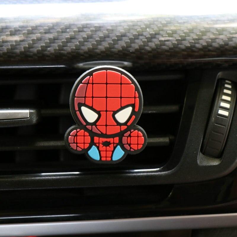 Освежитель воздуха с героями мультфильмов, автомобильный Стайлинг, духи, Мстители, Marvel, стиль для кондиционера, Вентиляционный Выход, Супермен, Бэтмен, модный, крутой - Название цвета: spiderman