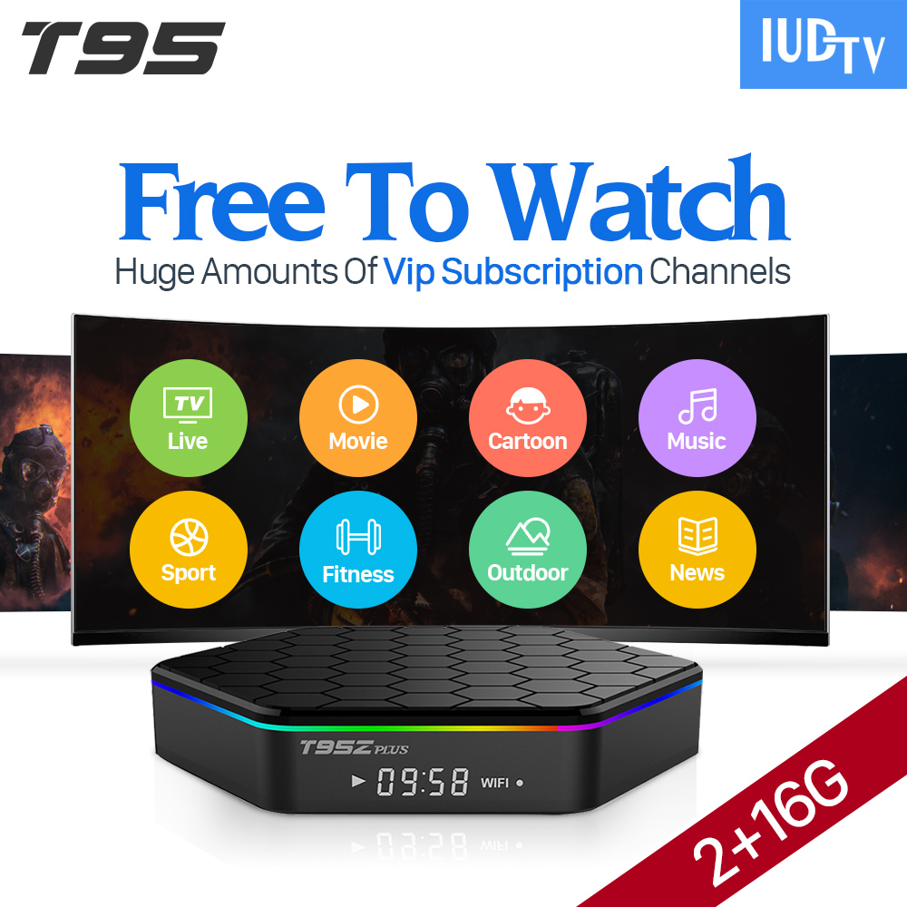 T95Zplus Android 7.1 Smart Set-top TV Box 2000 Channels 4K IUDTV Code Subscription Europe Arabic IPTV Top Box