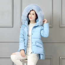 2016 Новый Зима Теплая Пальто Женщин Короткая Куртка Пальто Мода Куртка Женская Мода Меха С Капюшоном Хлопок Вниз Пальто Свободные Пальто