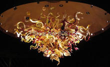 Free Shipping High Ceiling Art Glass Chandelier Prisms