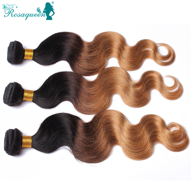Brazilian Body Wave Ombre Hair Extensions Two Tone 1B/27 Brazilian Hair Weave Bundles 3Pieces/Lot 100% Ombre Human Hair