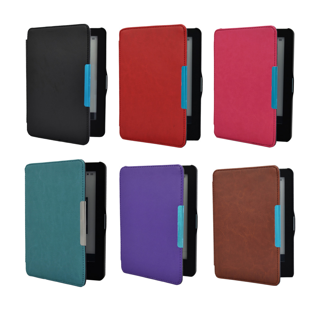 6.0inch Smart Case For Kobo Glo HD Kobo GLOUltra Slim Leather Hard Case Magnetic Auto Sleep Wake Up Function Cover Case eReader