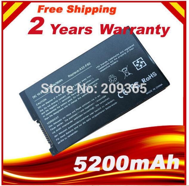 Batteria del computer portatile per asus a32-f80 f80h f80a f80q f80l f81 f83 f50 N80 N81 X61GX X61SL X61Z X80 X82 X83 X85 X85C X85L Marca nuovo