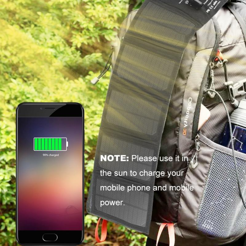 Smartphone Solar Charger 12W Solar Charging Panel Portable fast charger With USB Port for iphone Samsung USB charging device
