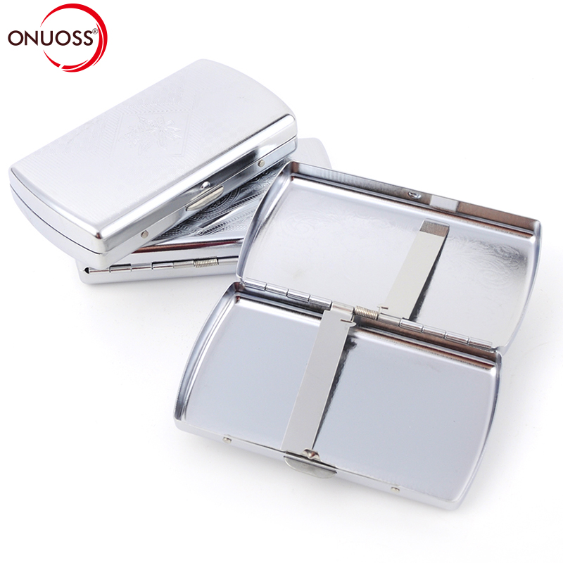 Onuoss 1 шт. мини Портативный Для мужчин свет цинковый сплав карман сигары портсигар ящик для хранения держатель табака контейнер для дым 107n