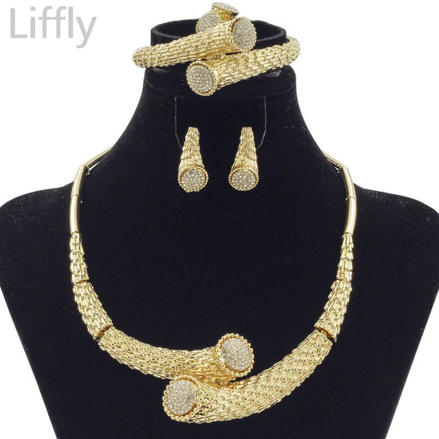 2018 New Fashion Dubai Crystal Ball Design Jewelry Sets African