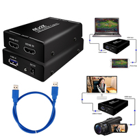 4K HDMI to USB 3.0 Video Capture Card Recorder For OBS vMix Wirecast Potplayer VLC Encoder QuickTime Player Phone Live Streaming