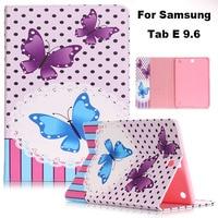 Fashion Smart Cover Case For Samsung Tab E 9 6 T560 PU Leather Cover Case Funda