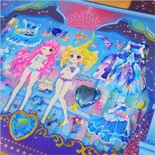 Beautiful Girl Princess Dressing Stickers Kawaii Sticker Toy Dress up Girl Changing Clothes Kids Creative Gift