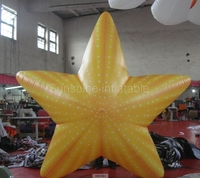 Hot sale attractive giant inflatable starfish inflatable seastar inflatable sunstar for wedding/party/night club/advertising