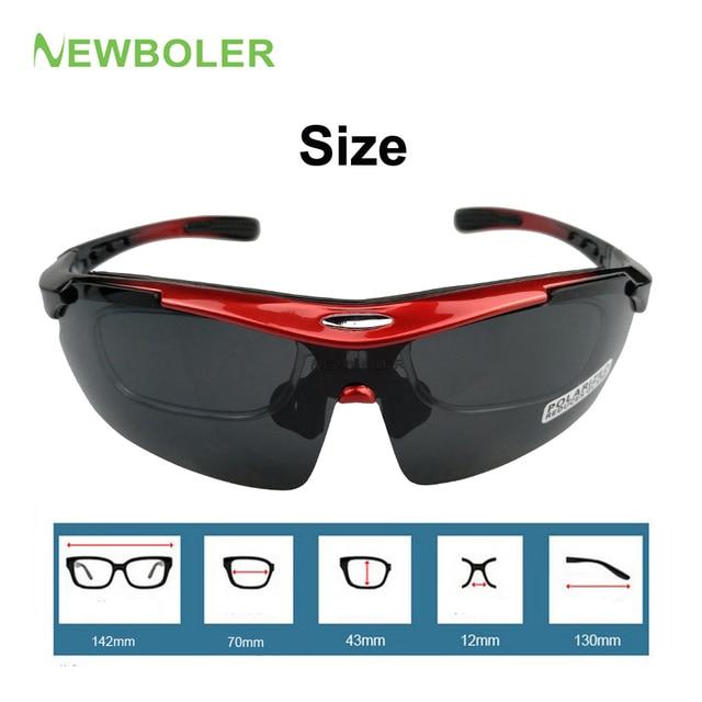 NEWBOLER 2 Frame Polarized Ciclismo Óculos de Sol Das Mulheres Dos Homens de Esportes Ao Ar Livre Óculos de Bicicleta Bicicleta Óculos Goggles Óculos Lente 5 2