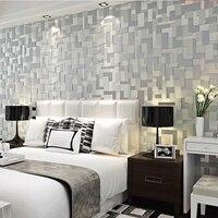 3d Papel De Parede Waterproof Plain Mosaic Wallpaper For Bedroom 3d Wall Paper Rolls TV Background