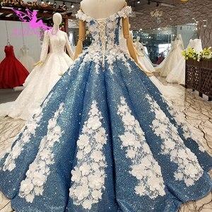 Image 5 - AIJINGYU Dantel Vintage Gelinlik Düz Önlük Kraliçe Frocks Uzun Geri Ayıklaması Gelin Lüks Gelinlik düğün kıyafeti