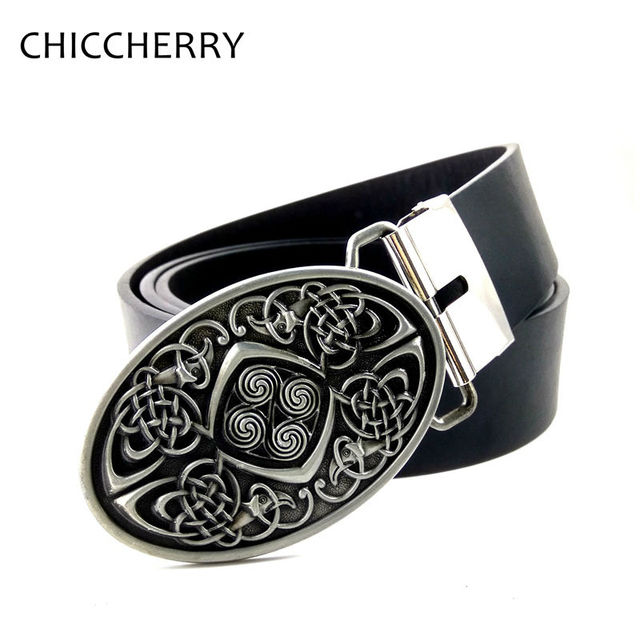 c8b8b559906 Dress Jeans Female Leather Belt with Ireland Celtic Belt Buckles Knot  Braided Art For Women Pants
