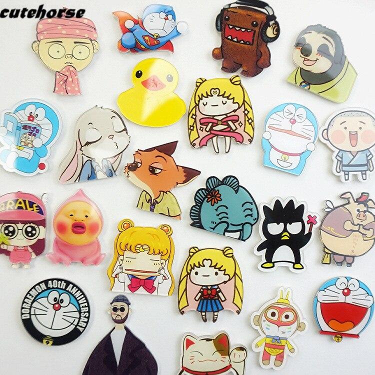 CUTEHORSE cartoon series Japanese style Doraemon fridge magnets tape whiteboard magnetic stickers acrylic fridge magnets