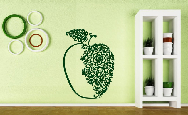 art apple vinyl wall stickers wall stickers big beautiful tasty