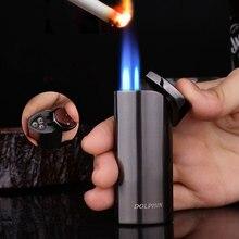 Jet Butan Rohr Leichter Triple Taschenlampe Turbo Feuer Zigarette 1300 C Leistungsstarke Winddicht Zigarre Leichter Tragbare Spray Gun Außen