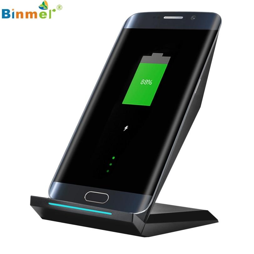 bilder für Hot-verkauf BINMER Schwarz Qi Drahtlose Telefon Schnelle Ladegerät Lade Pad Dock Ständer Halter Bahnhof Für Samsung Galaxy S7 rand