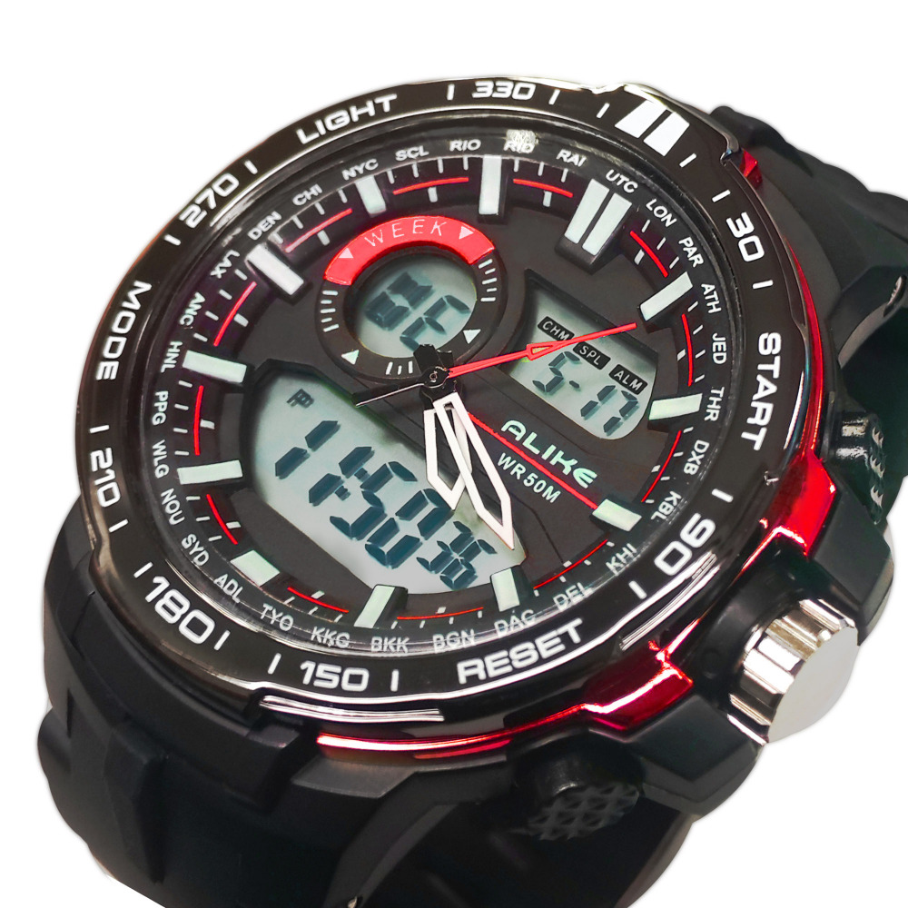 2015 New Digital Watch font b Men b font Analog Watch Silicone Analog Digital LED Date
