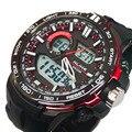 2015 Nuevo Reloj Digital Hombres Reloj Analógico de Silicona Analógico LED Digital Fecha Alarma Hombres de Cuarzo Deportes Al Aire Libre Militar reloj