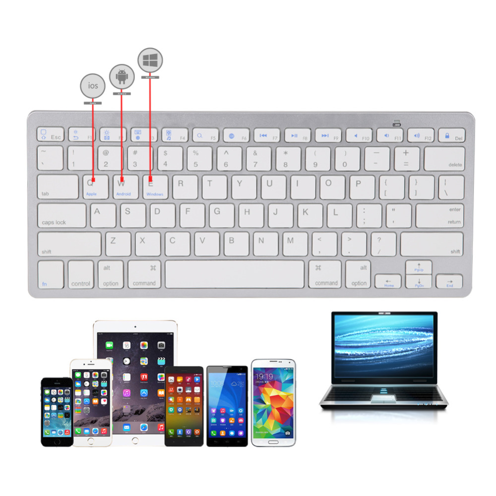 landas wireless russian keyboard universal bluetooth wireless keyboard for apple for android. Black Bedroom Furniture Sets. Home Design Ideas