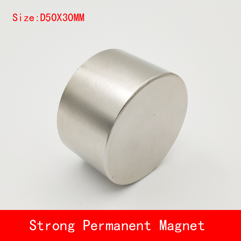NEW 1pcs N52 Neodymium magnet D50x30mm super strong round magnets Rare Earth 50*30mm N52 strongest permanent powerful magnetic 1pcs neodymium magnet n52 d53x30 super strong round magnet rare earth 50 30mm strongest permanent powerful magnetic iron shell