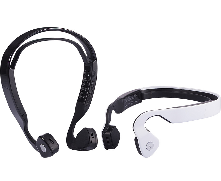 ФОТО Wholesell 2 colors Wireless Bluetooth Headset Bone Conduction Outdoor Sports Running Headphone Hands-free with Mic Earphones