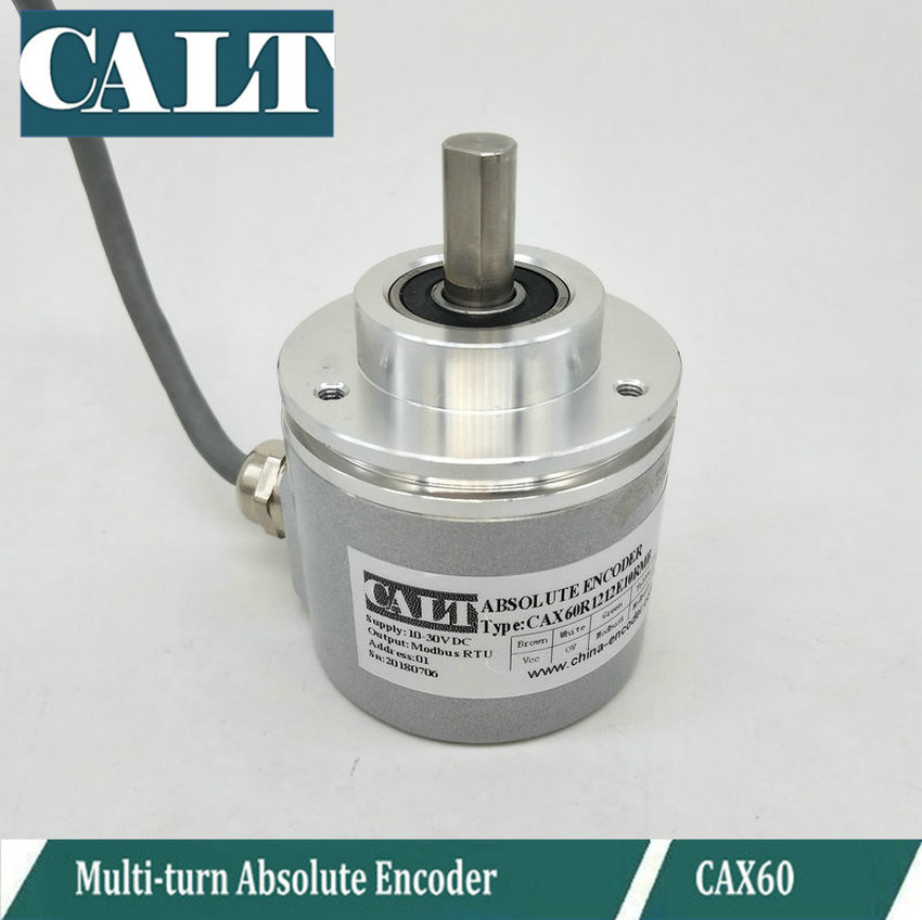 CALT 4096 Magnetic encoder 12 bit each lap Modbus RTU multiturn absolute rotary encoder CAX60R1212E10RMB