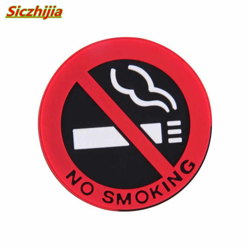 車禁煙警告サインステッカー起亜リオ K2 K3 K5 K4 セラート、ソウル、フォルテ、 sportage R 、ソレント、モハビ、オプティマ
