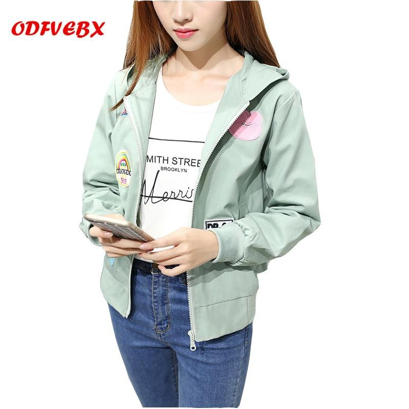 Boutique Female   Jackets   2019   Basic     Jacket   Women's Hooded   Jacket   Fashion Thin Fashion Windbreaker Female Outwear Coat ODFVEBX