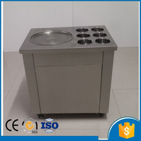 single pan fry ice cream machine fried ice roll pan machine flat pan rolled fried ice machine ice cream rolls machine