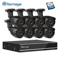 Techage 8CH 1080P HDMI AHD DVR Kit CCTV System 8 2 0MP HD Security Camera IR