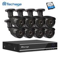 Techage 8CH 1080P HDMI AHD DVR Kit CCTV System 8 2 0MP HD Security Camera IR