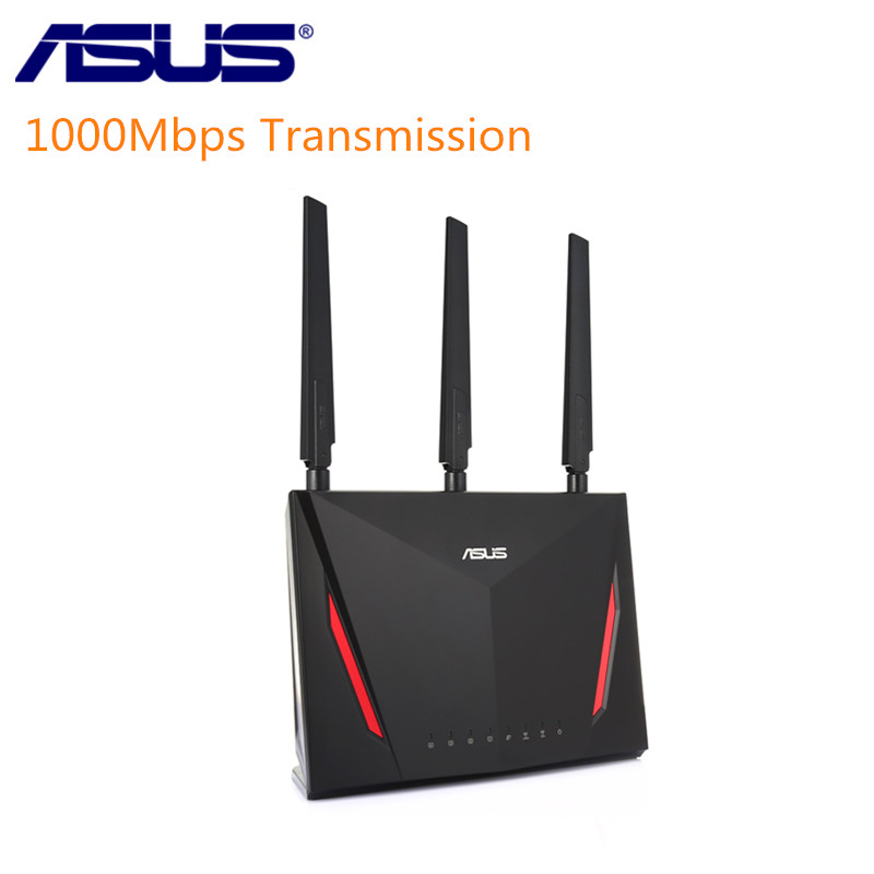 ASUS RT-AC86U 2900Mbps Wireless Wifi Router Dual Core 512MB RAM 256MB ROM 1.8G Wireless AC/G/N Wifi Router With Antennas цена