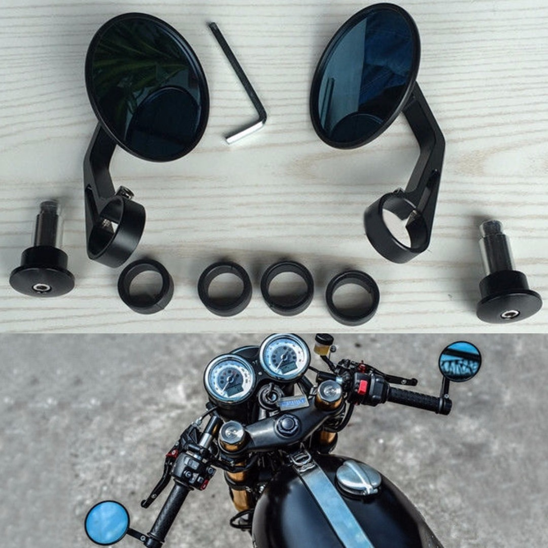 Side Mirrors Amp Accessories 1 Set Vintage Round Motorcycle